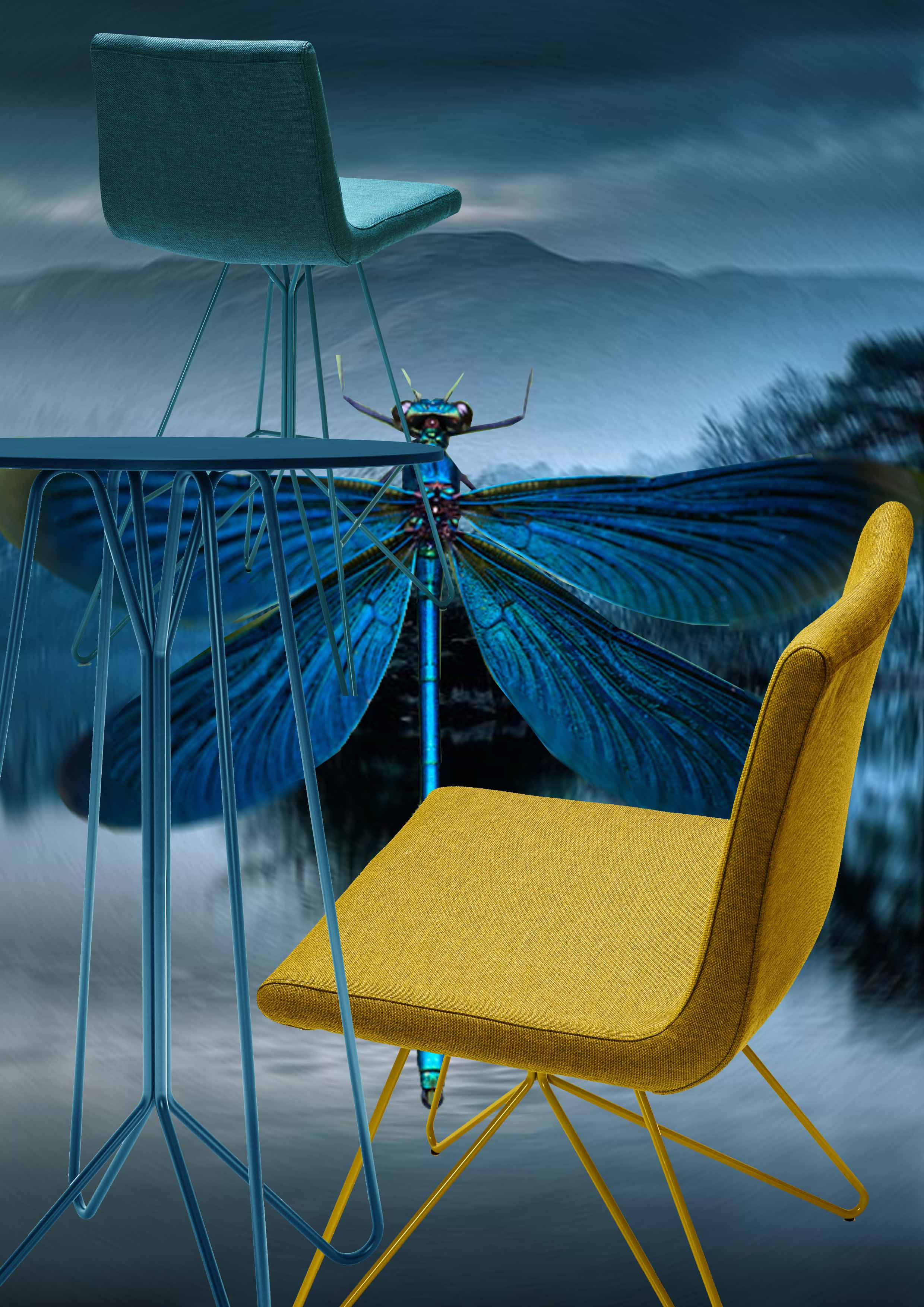 dragon fly, libelula,claire davies design