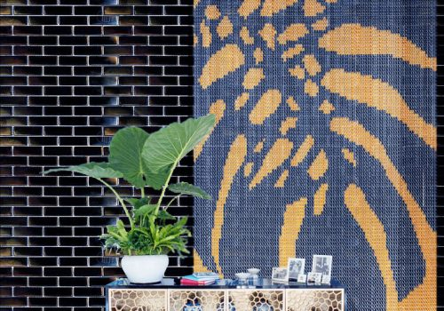 Kriska decor, curtain collections, Claire Davies designer,cheese plant