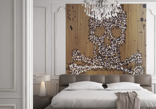 Kriska decor, curtain collections, Claire Davies designer,skull